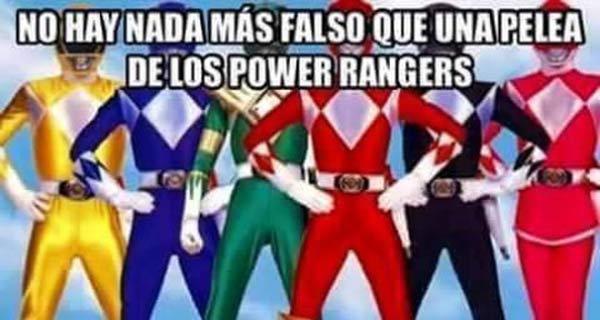 ¿Hay algo más falso que los Power Rangers?