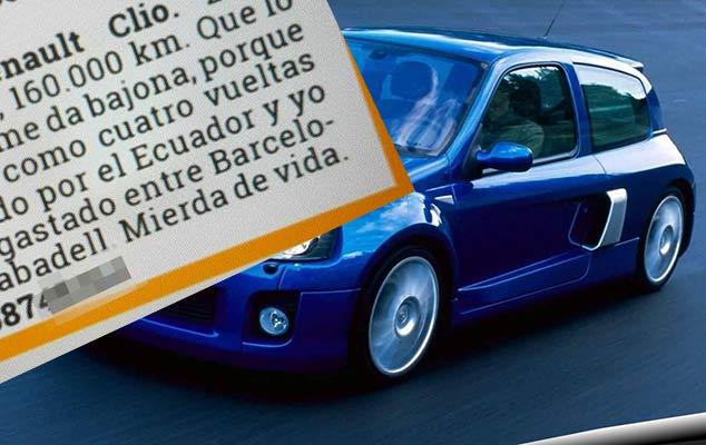 El anuncio para vender un Renault Clio que se ha hecho viral