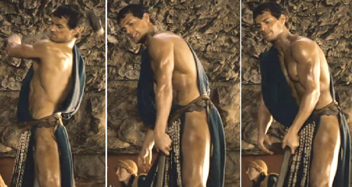 Tudor stripped naked