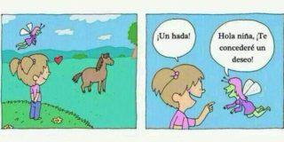 La niña que quería hablar con los caballos…