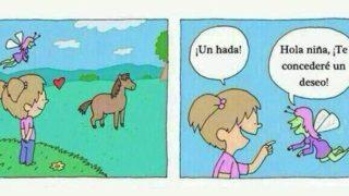 La niña que quería hablar con los caballos