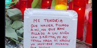El mensaje que dejó un vagabundo en el lugar del atentado de Barcelona