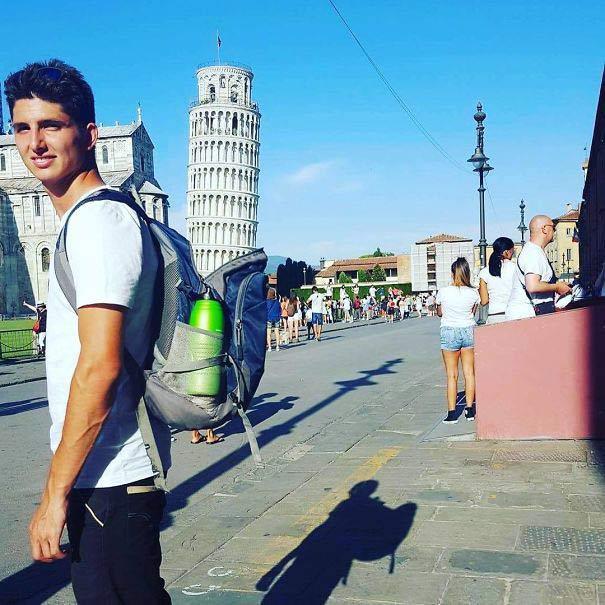 Torre de Pisa en la mochila