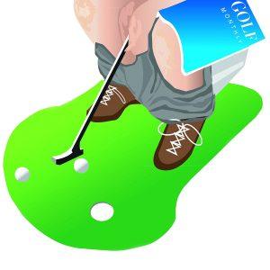 juego de golf para el baño