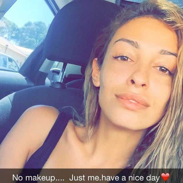 Eleni Foureira sin maquillaje