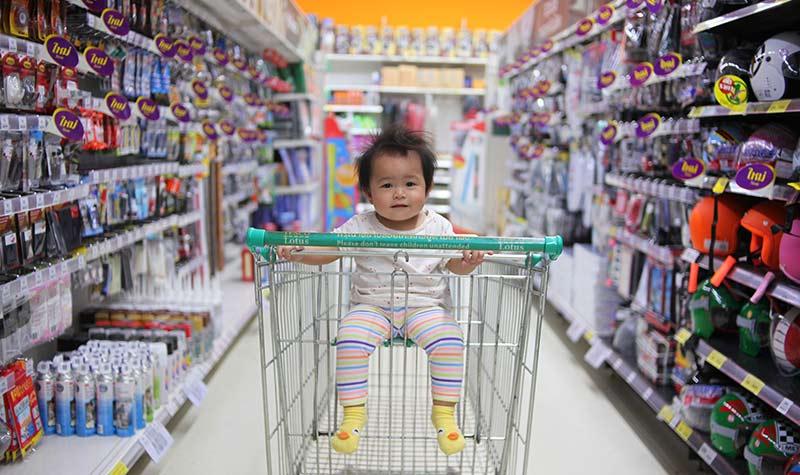 Broma en el supermercado