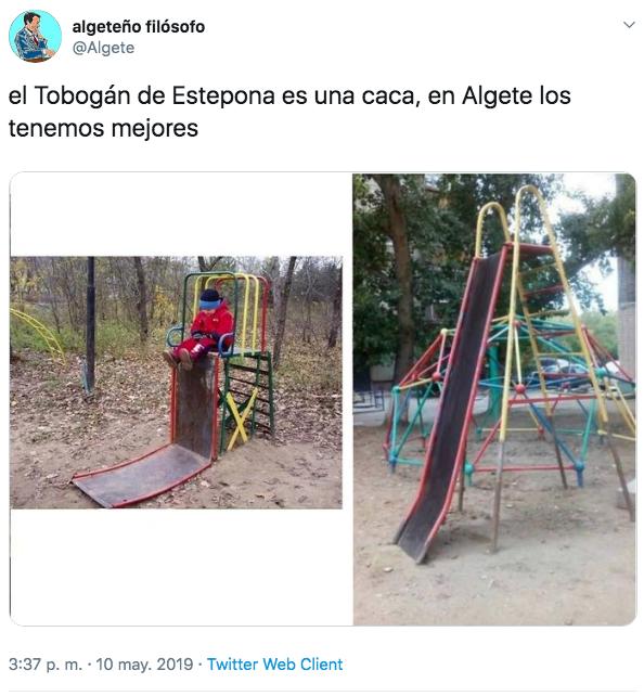 Meme sobre el tobogán de Estepona